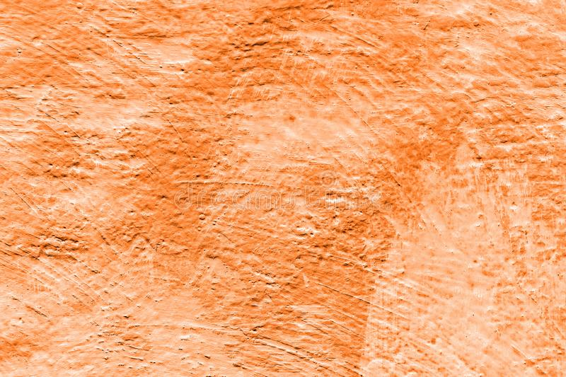 Kürbis farbige Farbe Zusammenfassung gemalter dekorativer Wandhintergrund lizenzfreies stockfoto