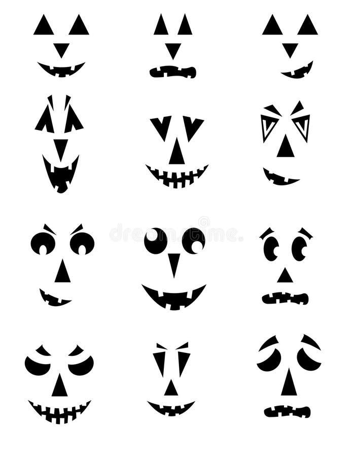 Kürbis-Gesichter stock abbildung