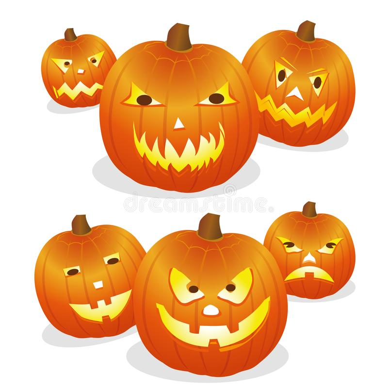 Kürbis Halloween stock abbildung
