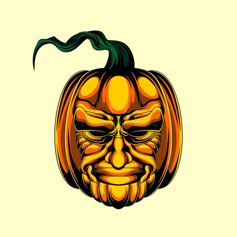 Kürbis Halloween stellen gegenüber stock abbildung