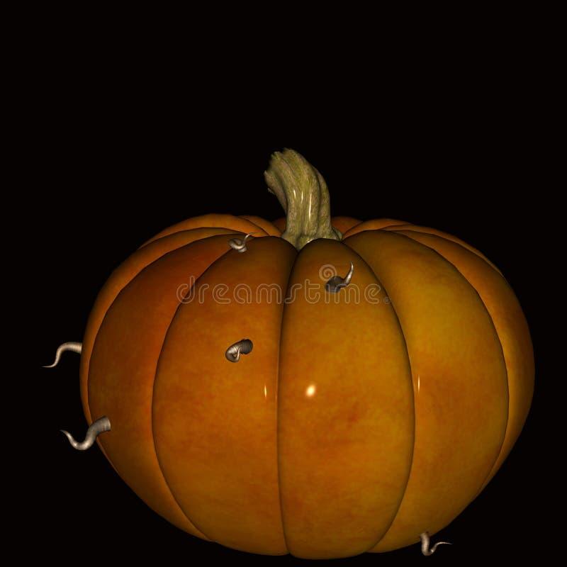 Kürbis Halloween weg gegessen durch Würmer vektor abbildung