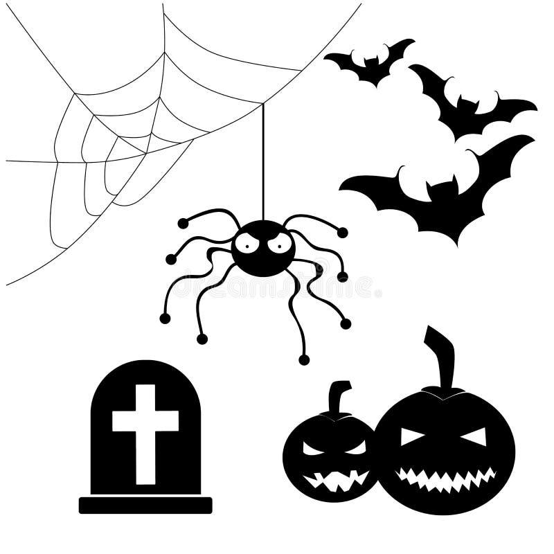 Kürbis, Hexen und noch etwas Auch im corel abgehobenen Betrag lizenzfreie abbildung