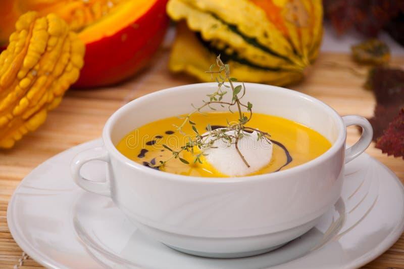 Kürbis-Suppe 1 stockfoto