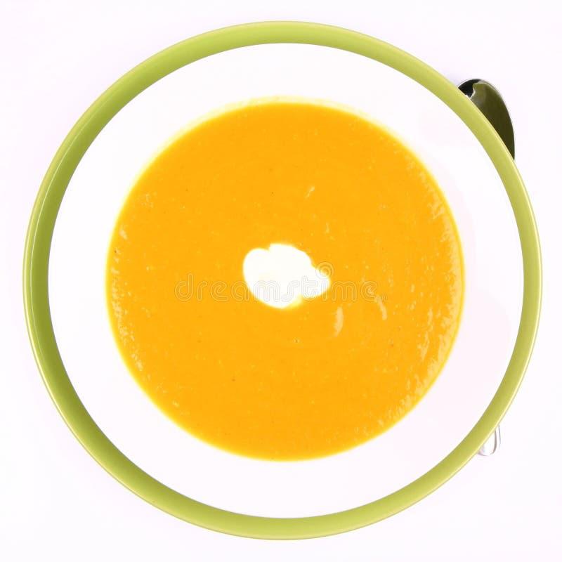 Kürbis-Suppe lizenzfreies stockbild