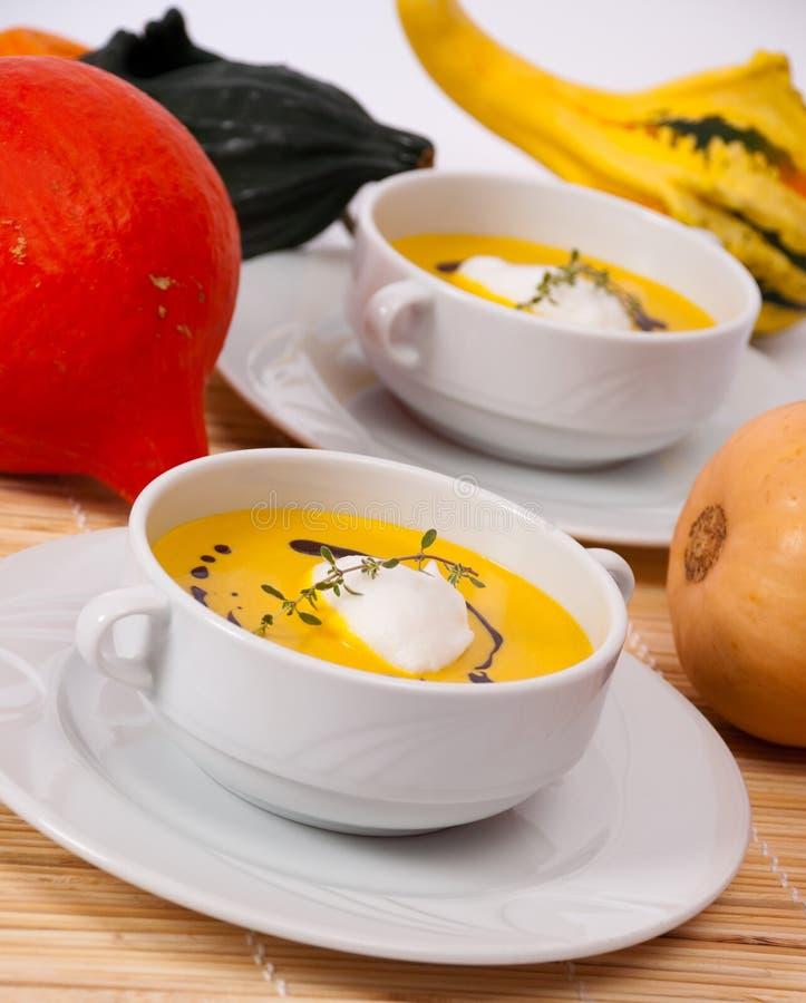 Kürbis-Suppe 2 stockfoto