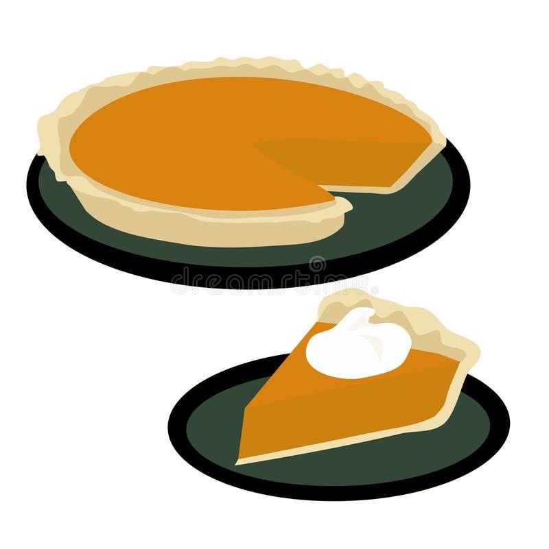 Kürbis-Torte lizenzfreie abbildung