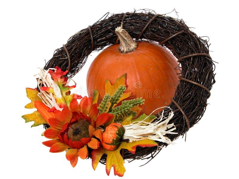 Download Kürbis u. Wreath stockbild. Bild von veggie, farbband, jahreszeit - 33733