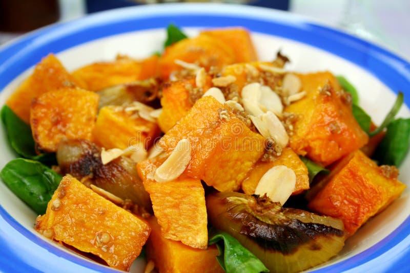 Kürbis-und Zwiebelen-Salat stockbilder