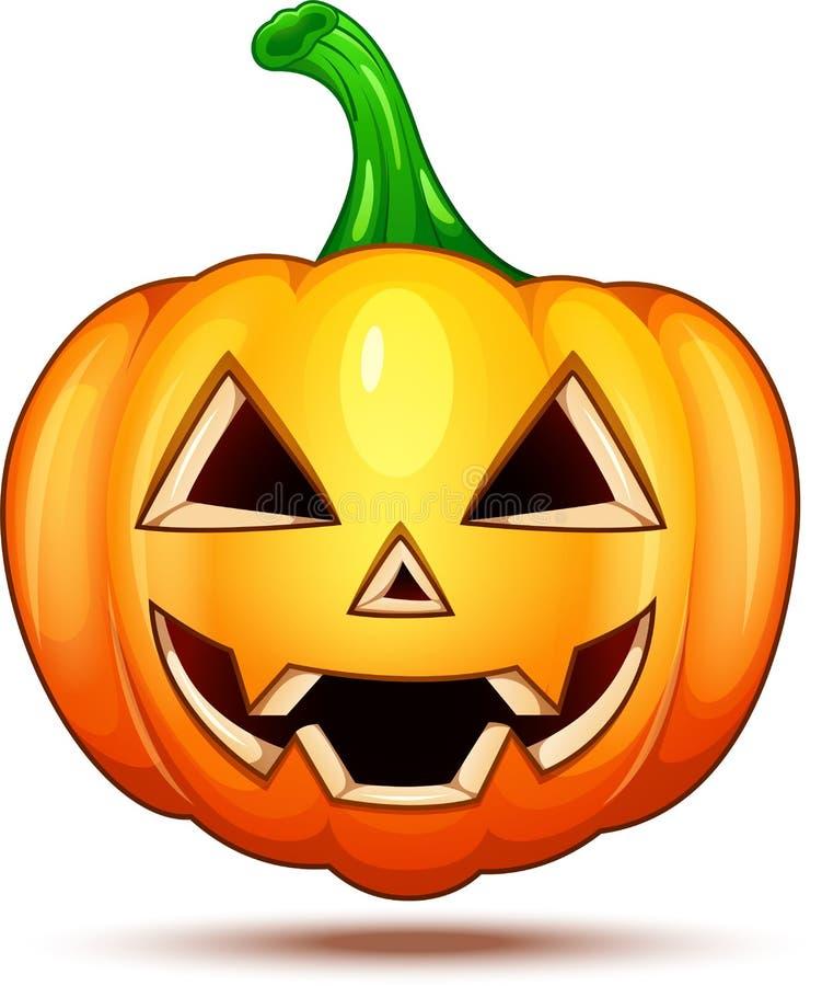 Kürbischaraktere lustig, lustig und verrückt Halloween-Karikatur Emoticons stock abbildung