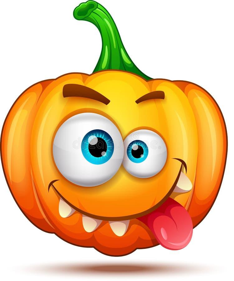 Kürbischaraktere lustig, lustig und verrückt Halloween-Karikatur Emoticons vektor abbildung