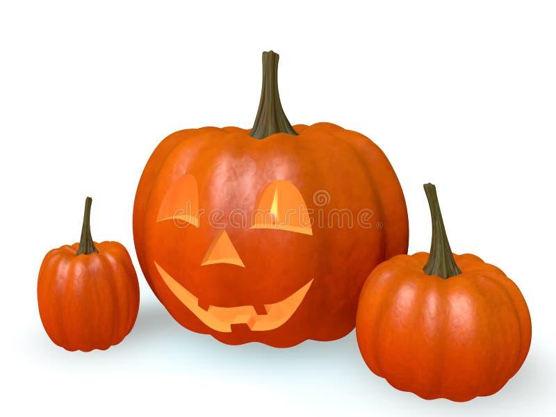 Kürbise Halloween stock abbildung