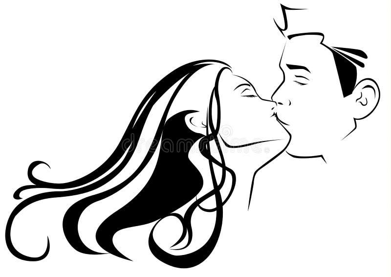 Küssen lizenzfreie abbildung