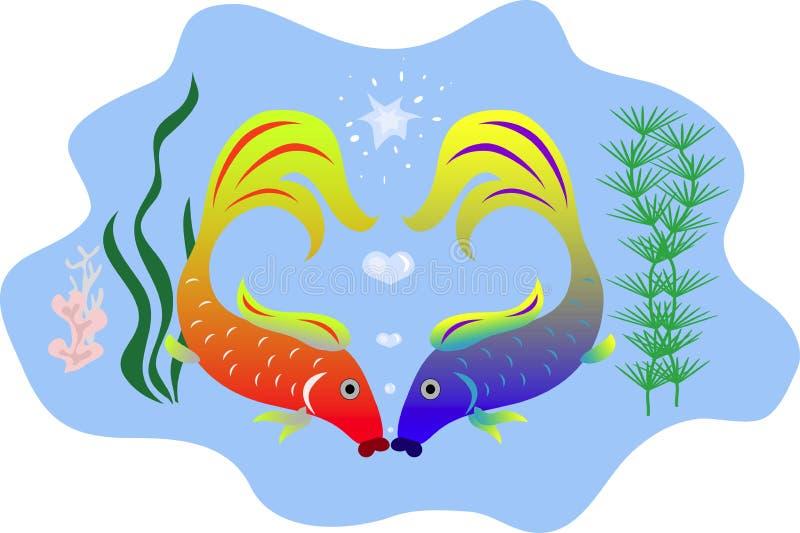 Küssen der Fische vektor abbildung