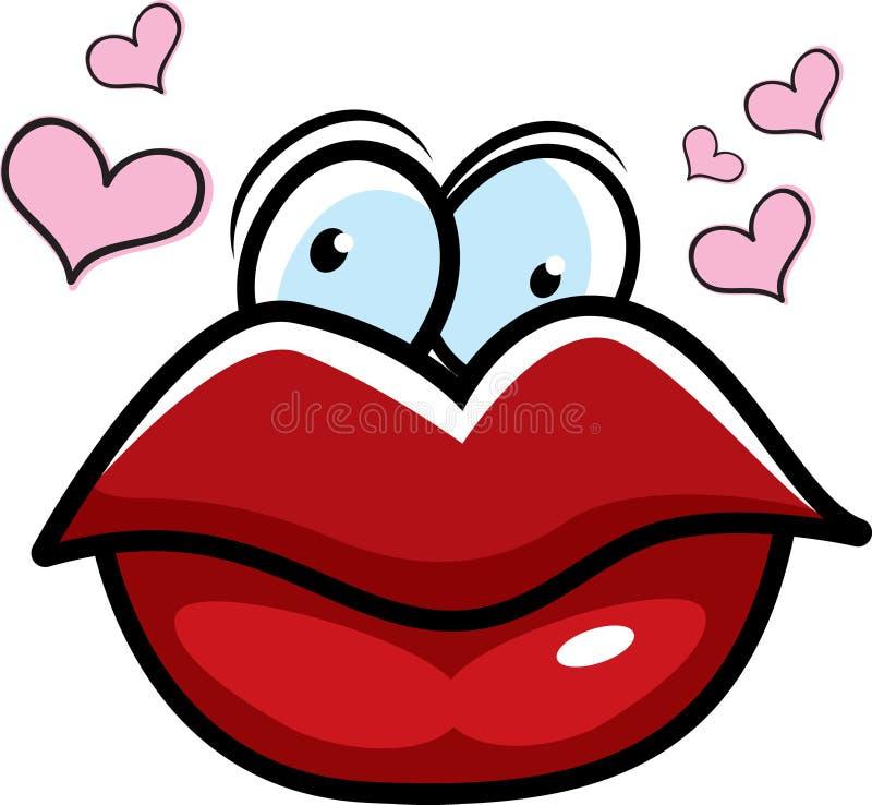 Küssen der Lippen stock abbildung