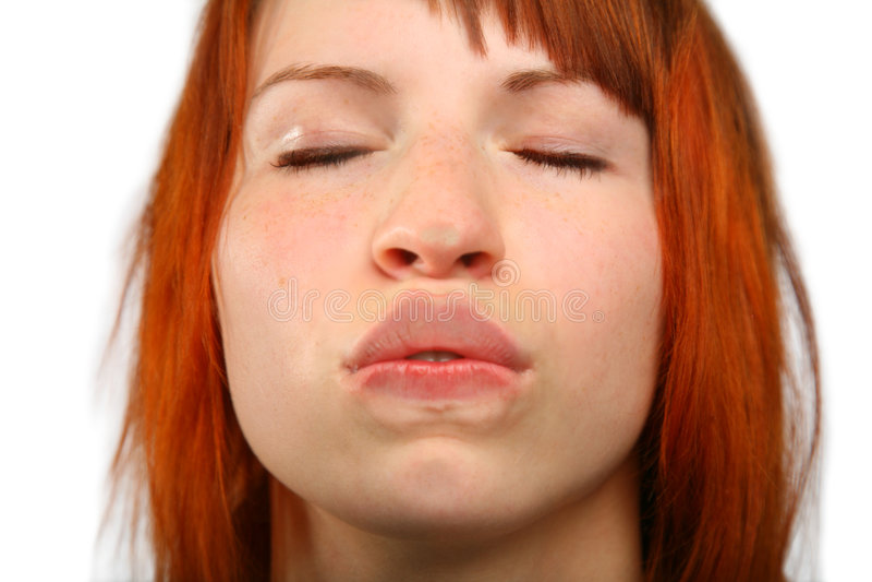 Küssen des Glasmädchens lizenzfreies stockbild