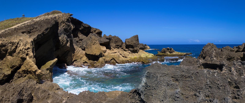 Küste in Arecibo Puerto Rico stockfotografie