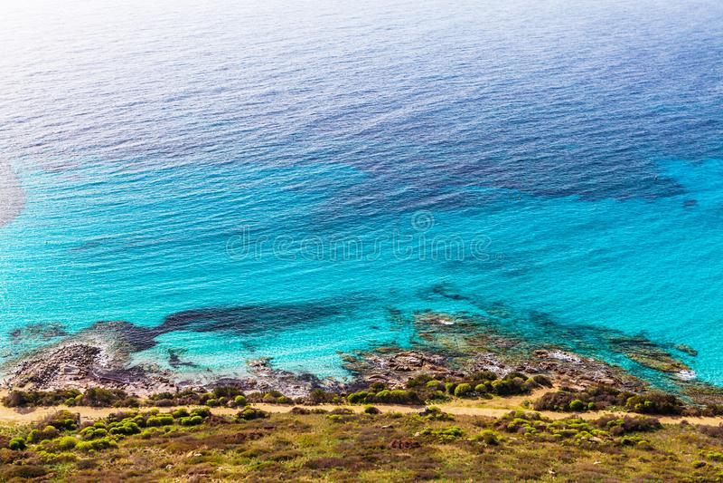 Küste des Mittelmeeres stockfotos