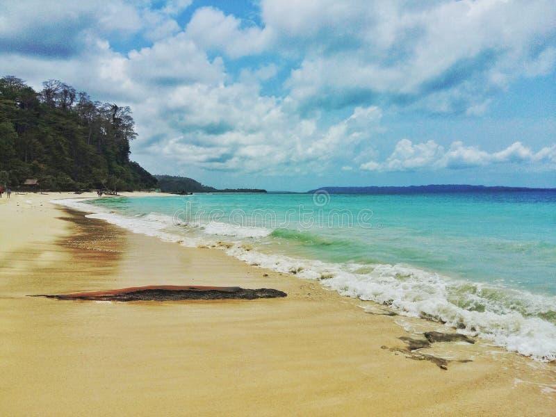Küste eines Kerala-Strandes Indien stockbild