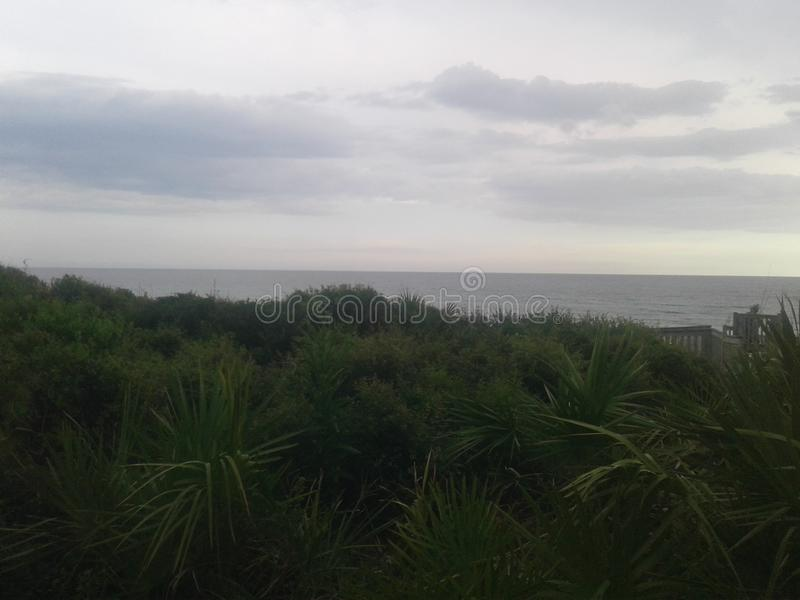Küste Florida entlang Hwy 30-A stockfoto
