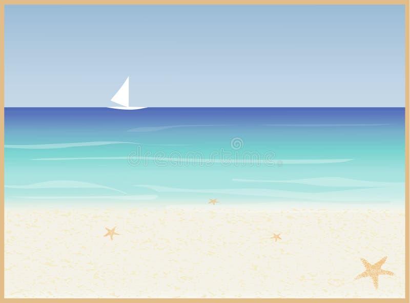 Küste-Hintergrund stock abbildung