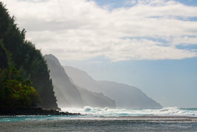 Küste Kauai, Hawaii Na Pali lizenzfreies stockfoto
