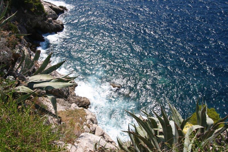 Küste in Kroatien stockfotos