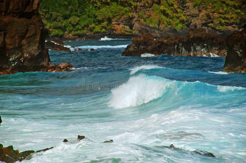 Küste Maui-, Hawaii stockfotos
