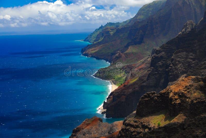 Küste Na Pali von der Luft stockbilder