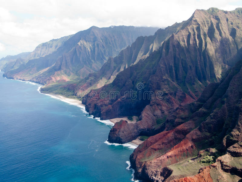 Küste Na-Pali von Kauai lizenzfreie stockfotografie