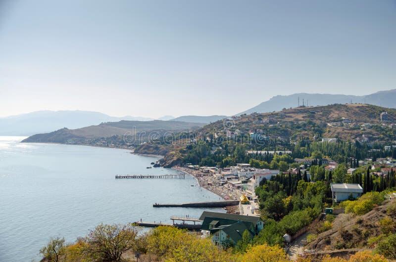 Küste nahe Alushta Malorechenskoe lizenzfreie stockbilder