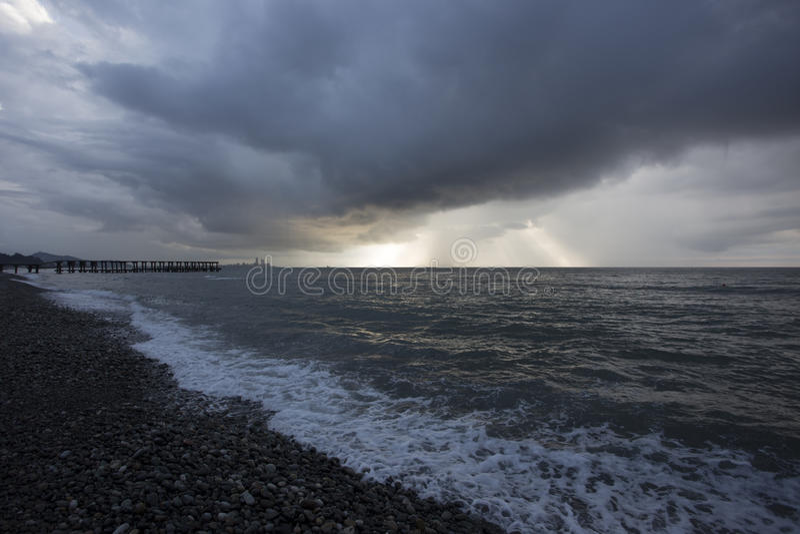 Küste nahe Batumi, Georgia stockfotografie