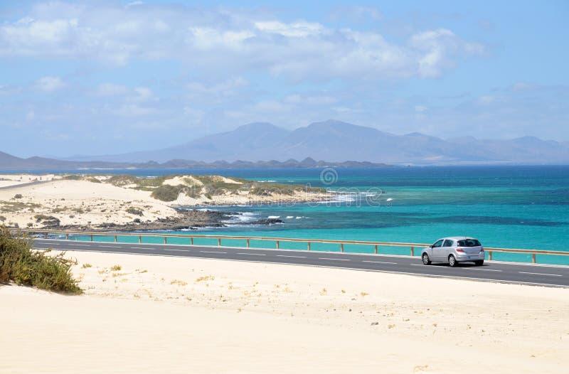 Küste nahe Corralejo, Fuerteventura, Spanien lizenzfreies stockfoto