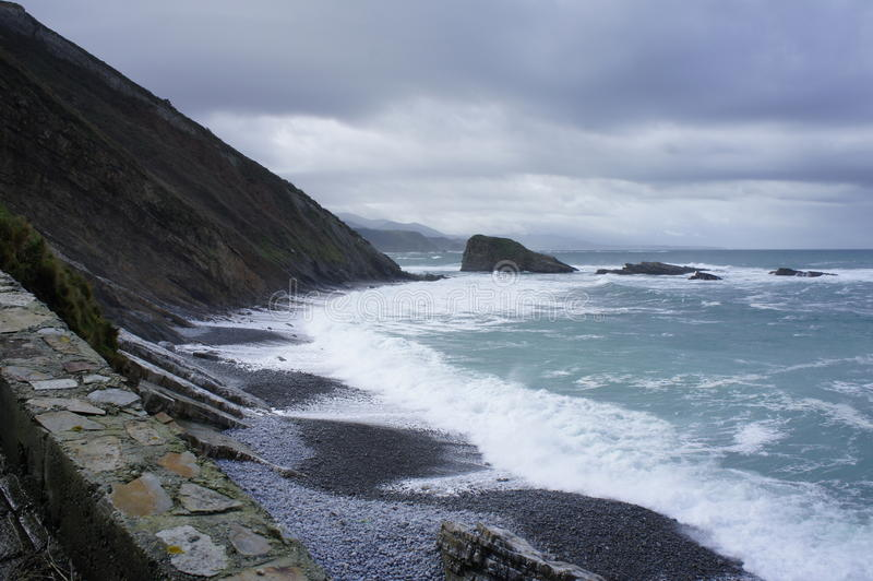 Küste Nord-Spanien lizenzfreie stockbilder