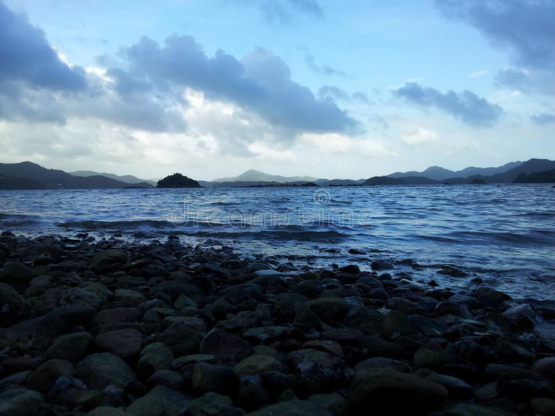 Küste in Sai Kung, Hong Kong lizenzfreie stockbilder
