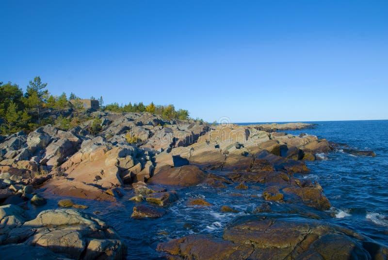 Küste in Schweden stockbild