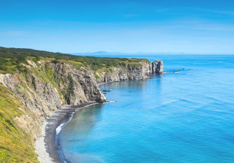 Küste vom Pazifischen Ozean stockfoto