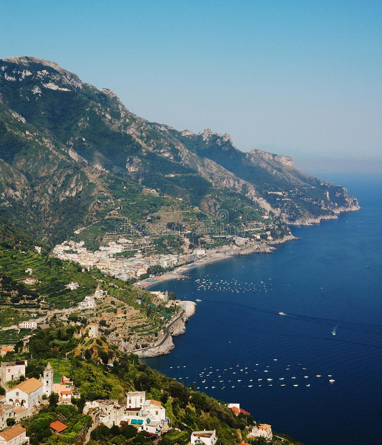 Küste von Amalfi, Italien stockbilder