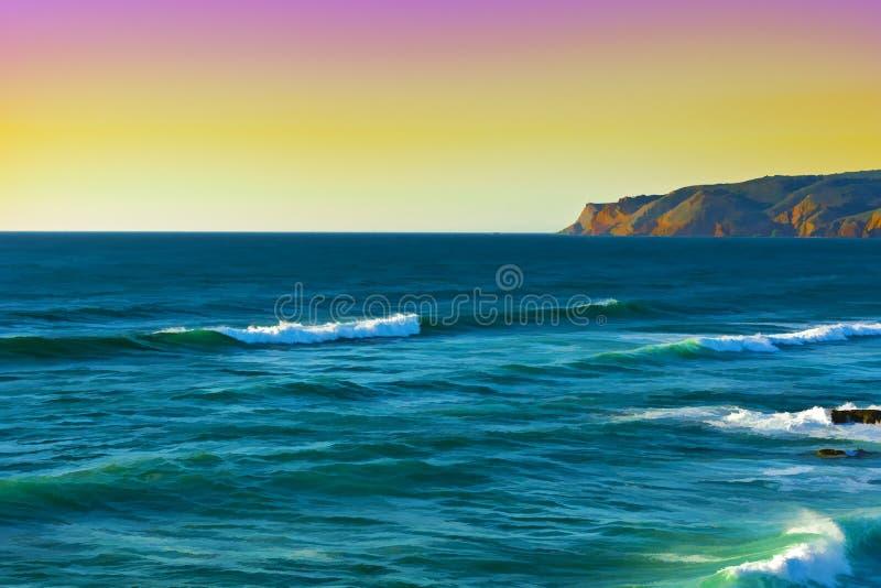 Küste von Atlantik lizenzfreie abbildung