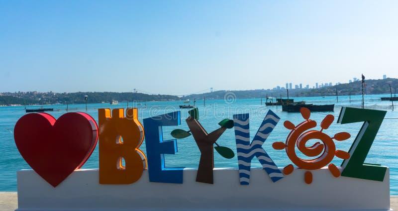 Küste von Beykoz stockfotos