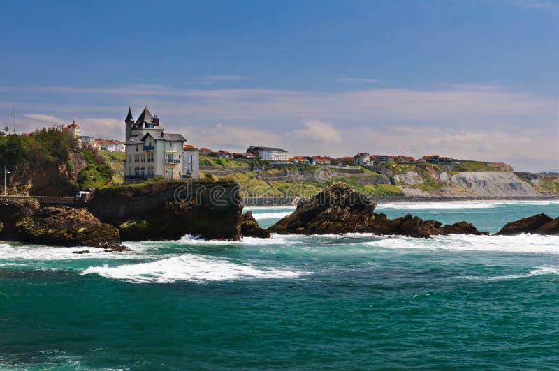 Küste von Biarritz lizenzfreies stockbild