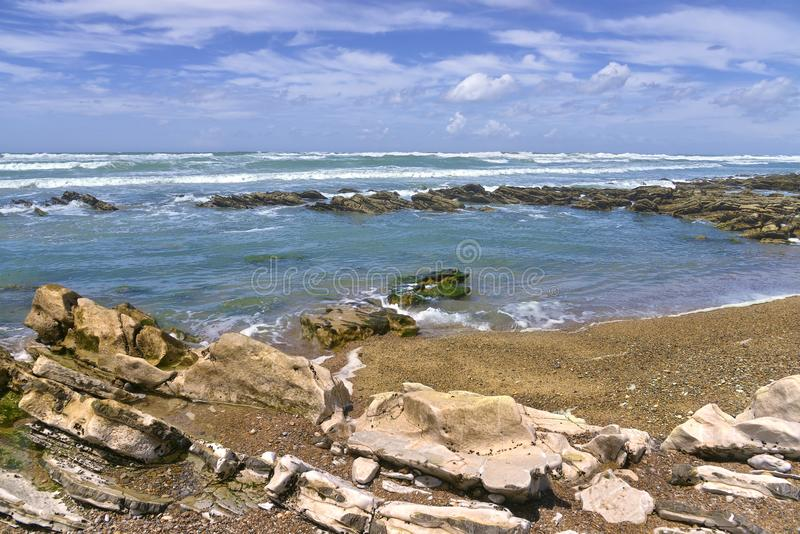 Küste von Bidart in Frankreich stockfotos