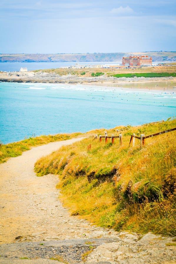 Küste von Cornwall, England stockfoto