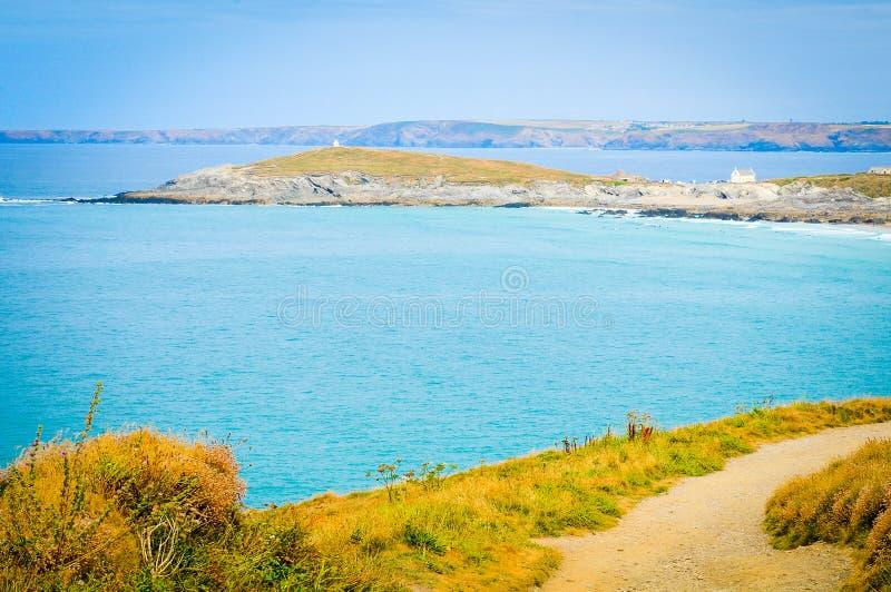 Küste von Cornwall, England stockbilder