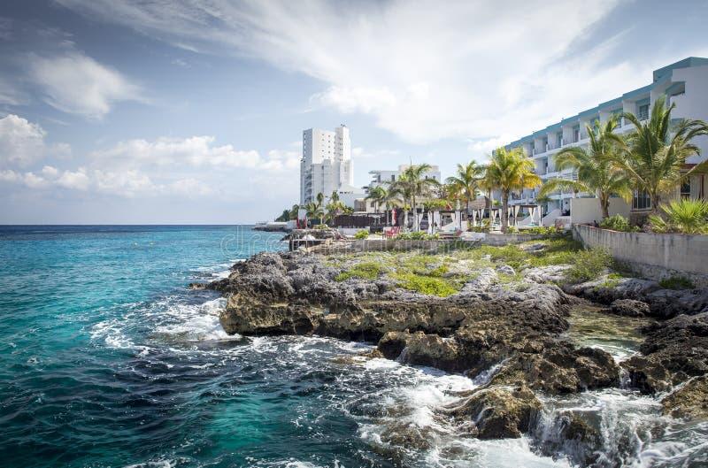 Küste von Cozumel-Insel lizenzfreies stockbild