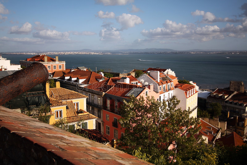 Küste von Lissabon lizenzfreie stockfotos