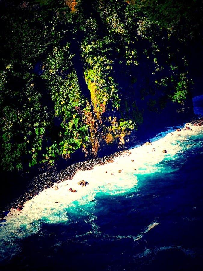 Küste von Maui stockbild
