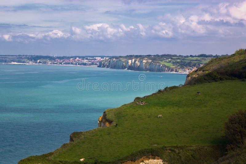 Küste von Normandie, Frankreich lizenzfreie stockbilder