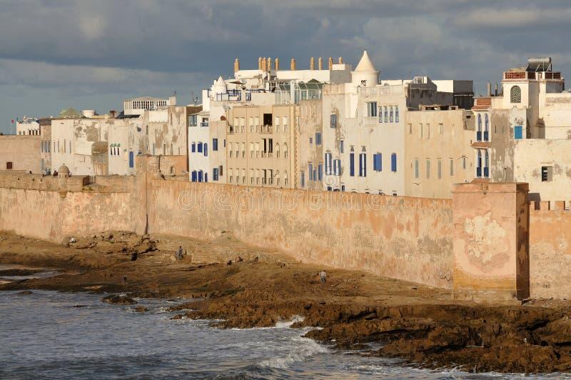 Küsteansicht über Essaouria lizenzfreie stockfotografie