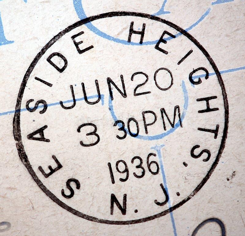 1936 Küsten-Höhen, New-Jersey Poststempel lizenzfreie stockbilder