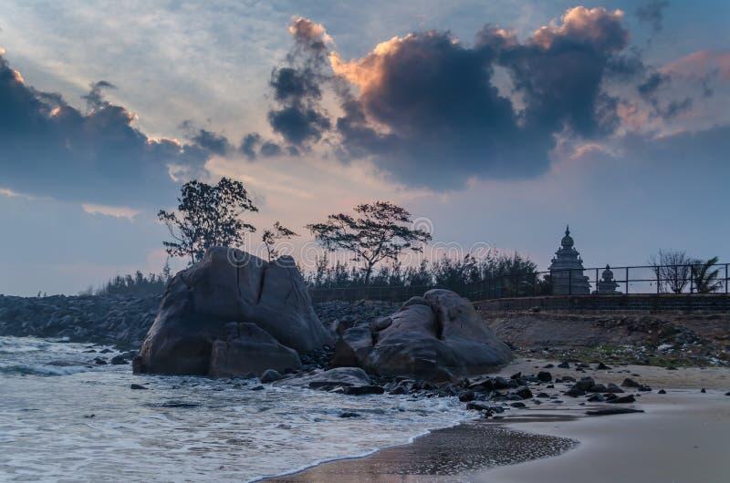 Küsten-Tempel Mahabalipuram stockbilder